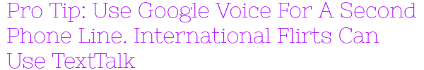 use google voice for niteflirt
